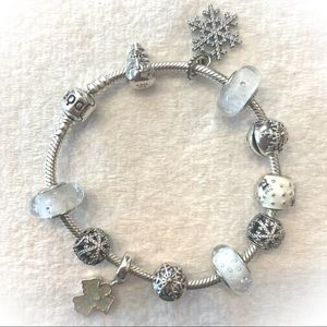 💥PRICE DROP💥 Winter Pandora Bracelet NEARLY FULL